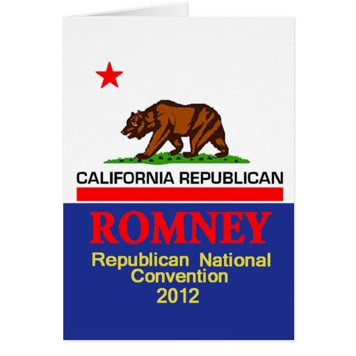 Romney CALIFORNIA RNC Card