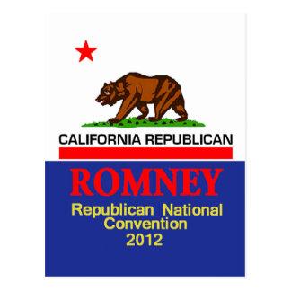 Romney CALIFORNIA RNC Postcard
