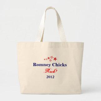 Romney Chicks Rock! Large Tote Bag