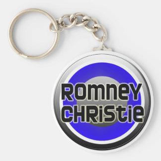 Romney Christie 2012 Basic Round Button Keychain