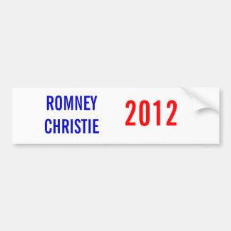 Romney/Christie 2012 Bumper Sticker