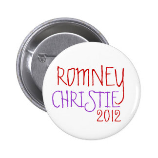 ROMNEY CHRISTIE 2012 PINBACK BUTTONS