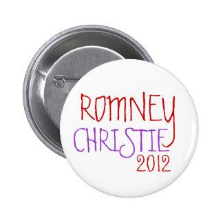 ROMNEY CHRISTIE 2012 PINBACK BUTTONS