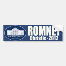 Romney Christie 2012 Republican Ticket Bumper Sticker