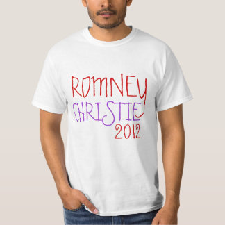 ROMNEY CHRISTIE 2012 TEE SHIRT