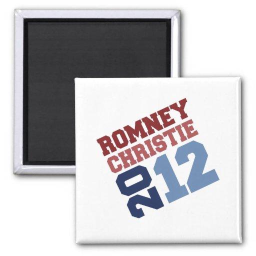 ROMNEY CHRISTIE VP TILT.png 2 Inch Square Magnet