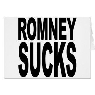 Romney chupa tarjetas