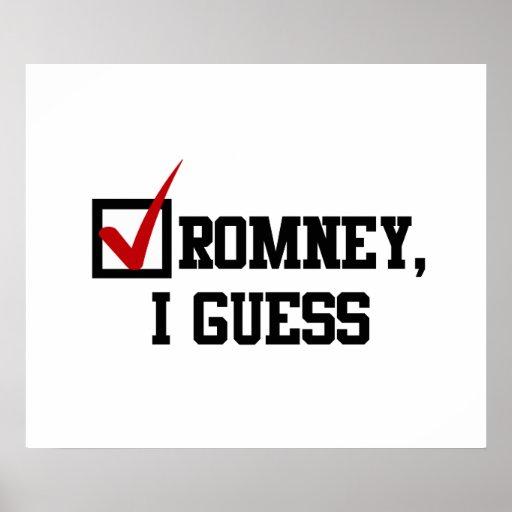 Romney, conjeturo poster