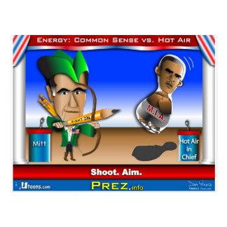 Romney contra el aire caliente tarjetas postales