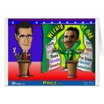 Romney contra el mago de impar felicitación