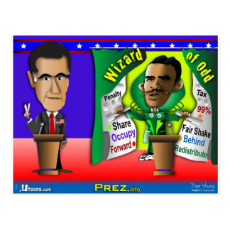 Romney contra el mago de impar tarjetas postales