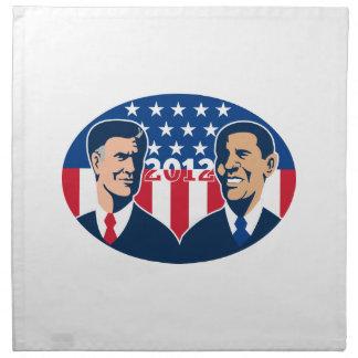 Romney contra las elecciones americanas 2012 de Ob Servilleta Imprimida