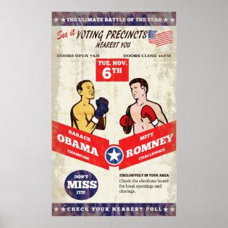 Romney contra las elecciones americanas de Obama 2 Poster