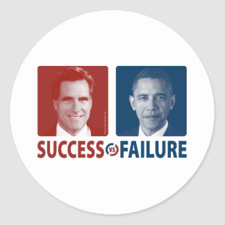 Romney contra Obama - éxito contra fracaso Etiqueta Redonda