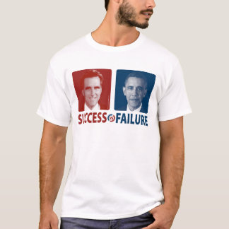Romney contra Obama - éxito contra fracaso Playera