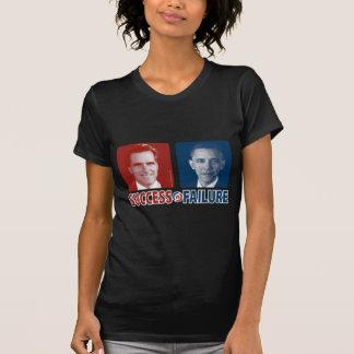 Romney contra Obama - éxito contra fracaso Camiseta