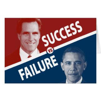Romney contra Obama - éxito contra fracaso Felicitacion