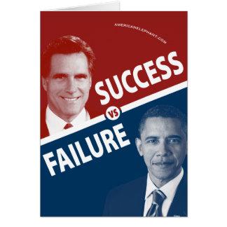 Romney contra Obama - éxito contra fracaso Felicitaciones