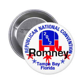 Romney Convention Pinback Buttons