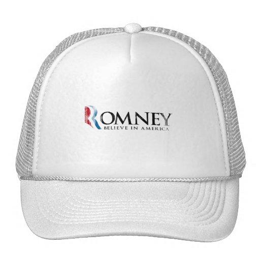 Romney - crea en América Gorros