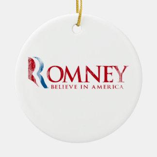 Romney - crea en América (roja) Adorno De Reyes