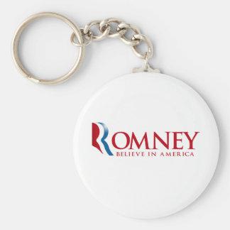Romney - crea en América (roja) Llavero Redondo Tipo Pin