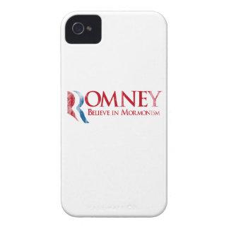 Romney - crea en el Mormonism Faded.png Case-Mate iPhone 4 Protector