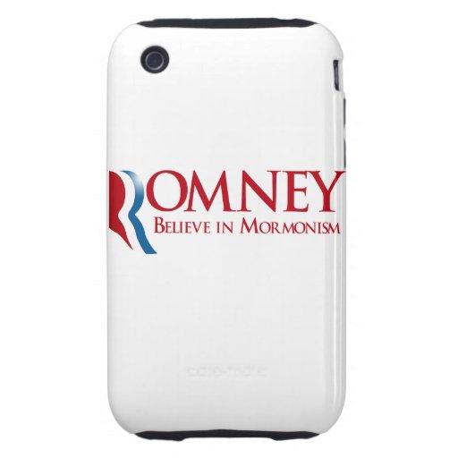 Romney - crea en Mormonism iPhone 3 Tough Carcasa