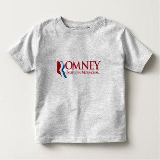 Romney - crea en Mormonism Playeras
