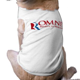 Romney - crea en Mormonism Camisetas Mascota