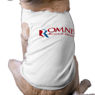 Romney - crea en Mormonism Camiseta De Perro