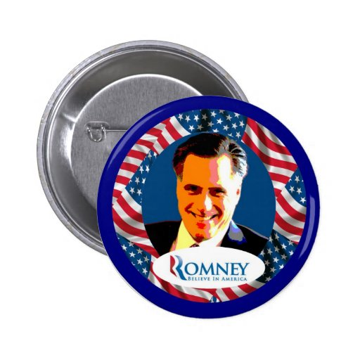 Romney cree pin redondo 5 cm
