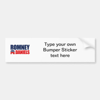 ROMNEY DANIELS TICKET 2012 BUMPER STICKER