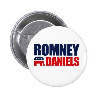 ROMNEY DANIELS TICKET 2012 PIN