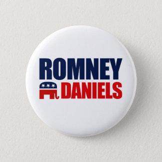 ROMNEY DANIELS TICKET 2012 PINBACK BUTTON