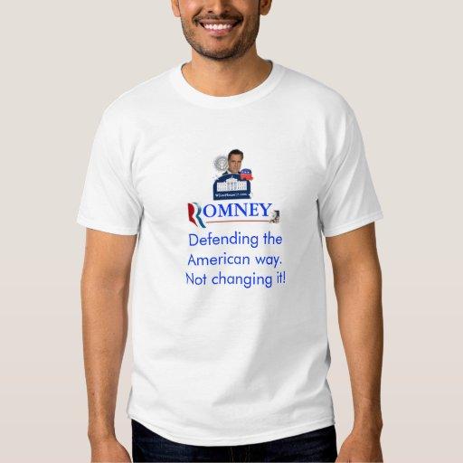 Romney: Defensa de la manera americana Playera