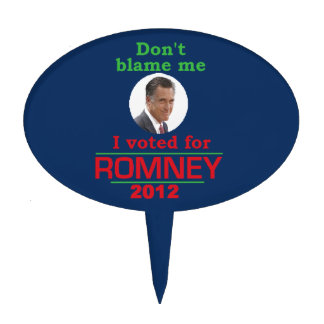 Romney Dont Blame Me Cake Toppers