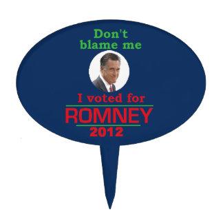 Romney Dont Blame Me Oval Cake Pick