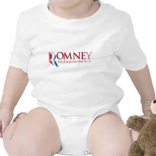 Romney - dos caras para un voto Faded.png Trajes De Bebé