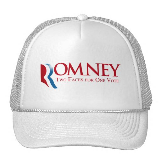 Romney - dos caras para un voto gorro de camionero