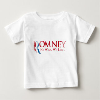 Romney - él gana. Nosotros Lose.png Playera