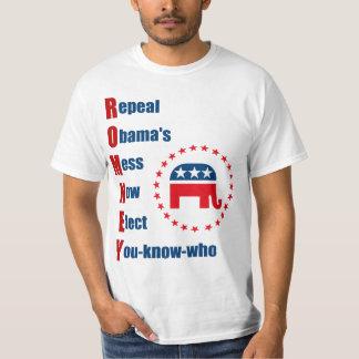 Romney - el lío de Obama de la derogación Camisas