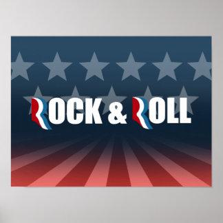 ROMNEY EL ROCK-AND-ROLL - .PNG PÓSTER