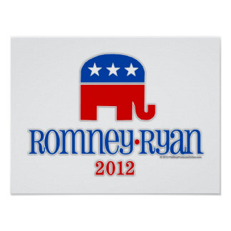 Romney/elefante del patriota de Ryan Poster