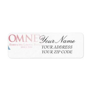 Romney - Embracing Liberal Policies since 2006 Return Address Label
