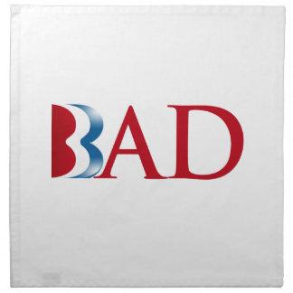 Romney es Bad.png Servilletas Imprimidas