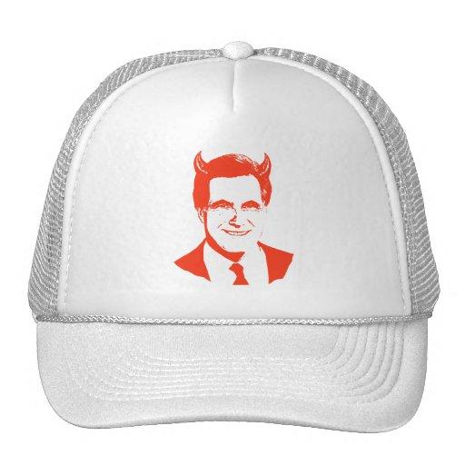 Romney es el diablo gorros bordados