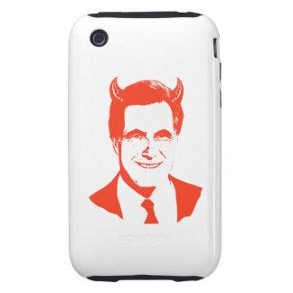 Romney es el diablo iPhone 3 tough fundas