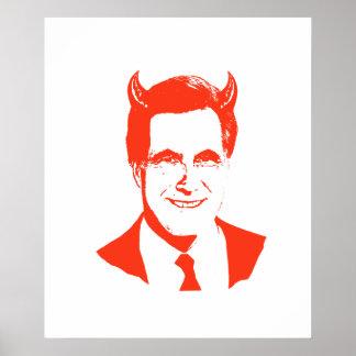 Romney es el diablo poster