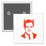 Romney es el diablo pins